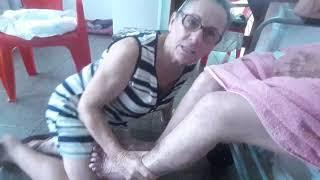 Tornozelo da de sangue ao virilha perna coágulo na