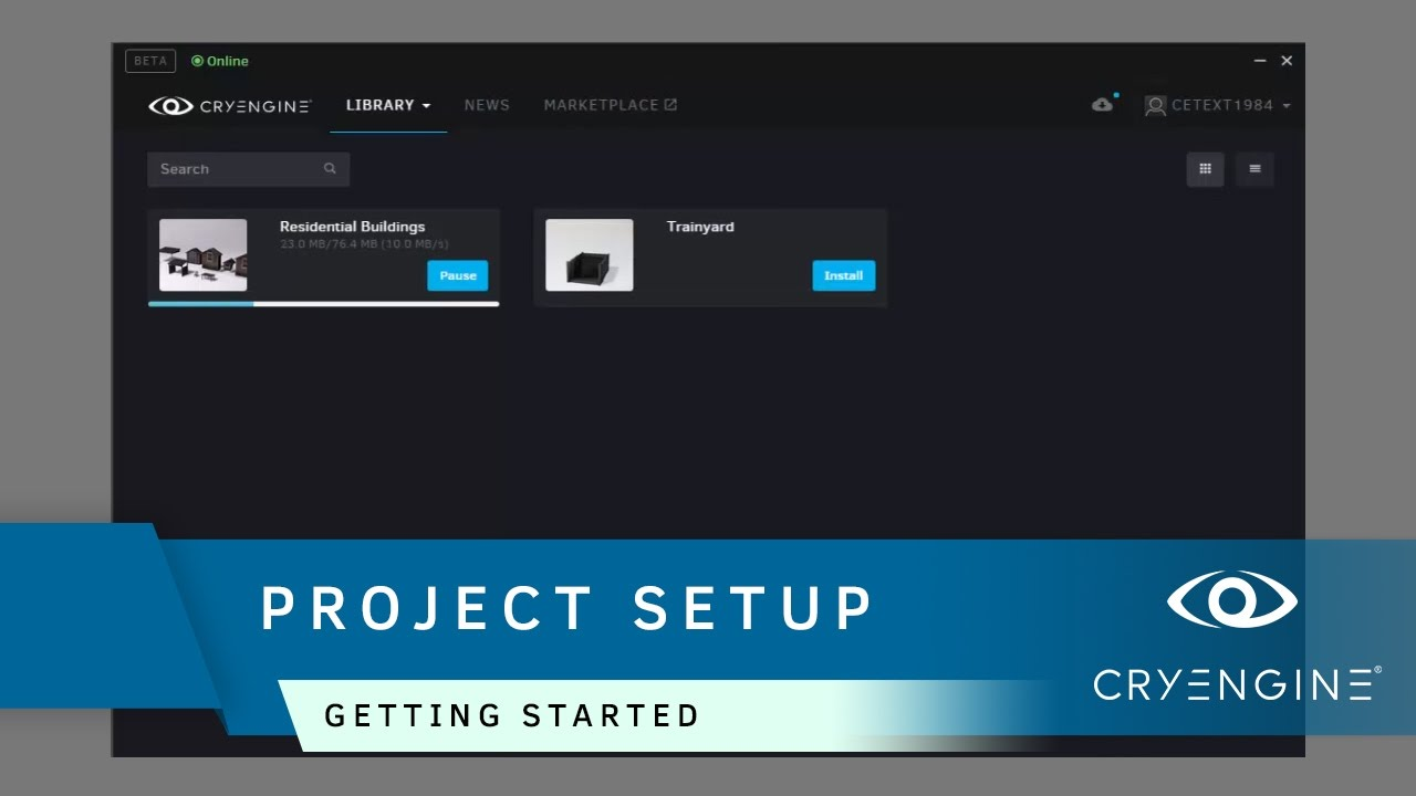 How to setup a project in the CRYENGINE Launcher | Getting Started