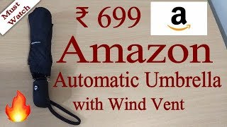 Unboxing AmazonBasics Automatic Travel Umbrella with Wind Vent | Worth buying it?