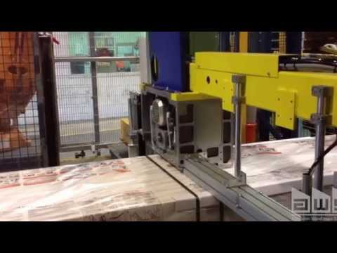 Strapping Machine With ABB Robot For Lightweight Concrete Blocks
