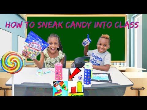 SNEAKING CANDY IN SCHOOL
