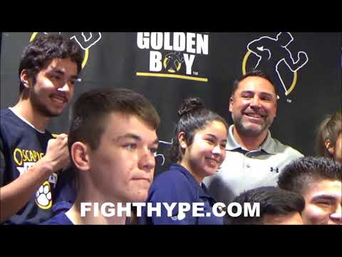 OSCAR DE LA HOYA ENTERTAINS FANS; GIVES BACK AT 21ST ANNUAL TURKEY GIVEAWAY