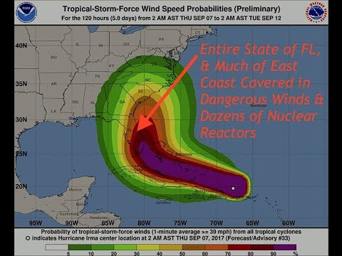 Hurricane Irma Could Blanket the Entire State of Florida & East Coast w/ Extreme Winds, Latest