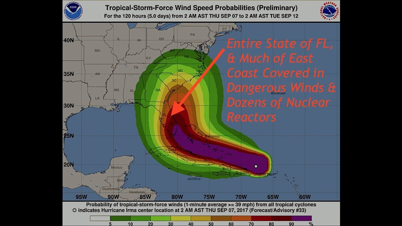 Hurricane Irma Could Blanket The Entire State Of Florida East