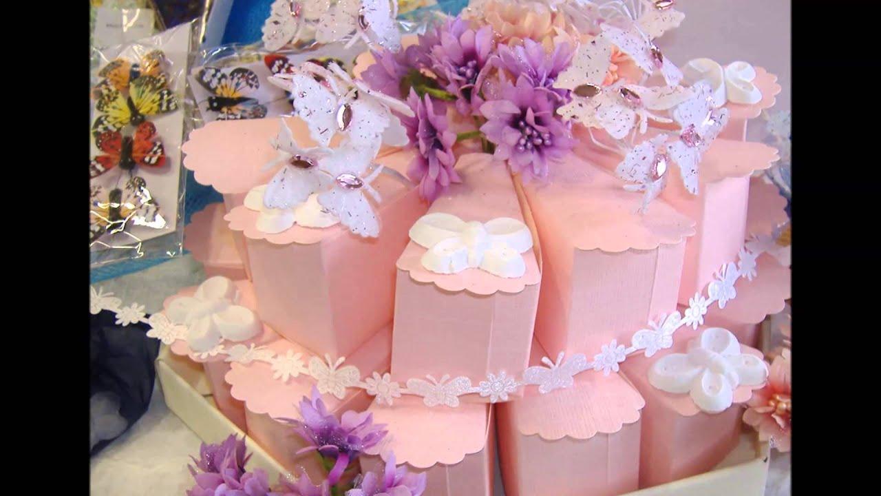 Bomboniere Di Carta Battesimo : Farfalle bomboniere e confetti scatoline di carta torte