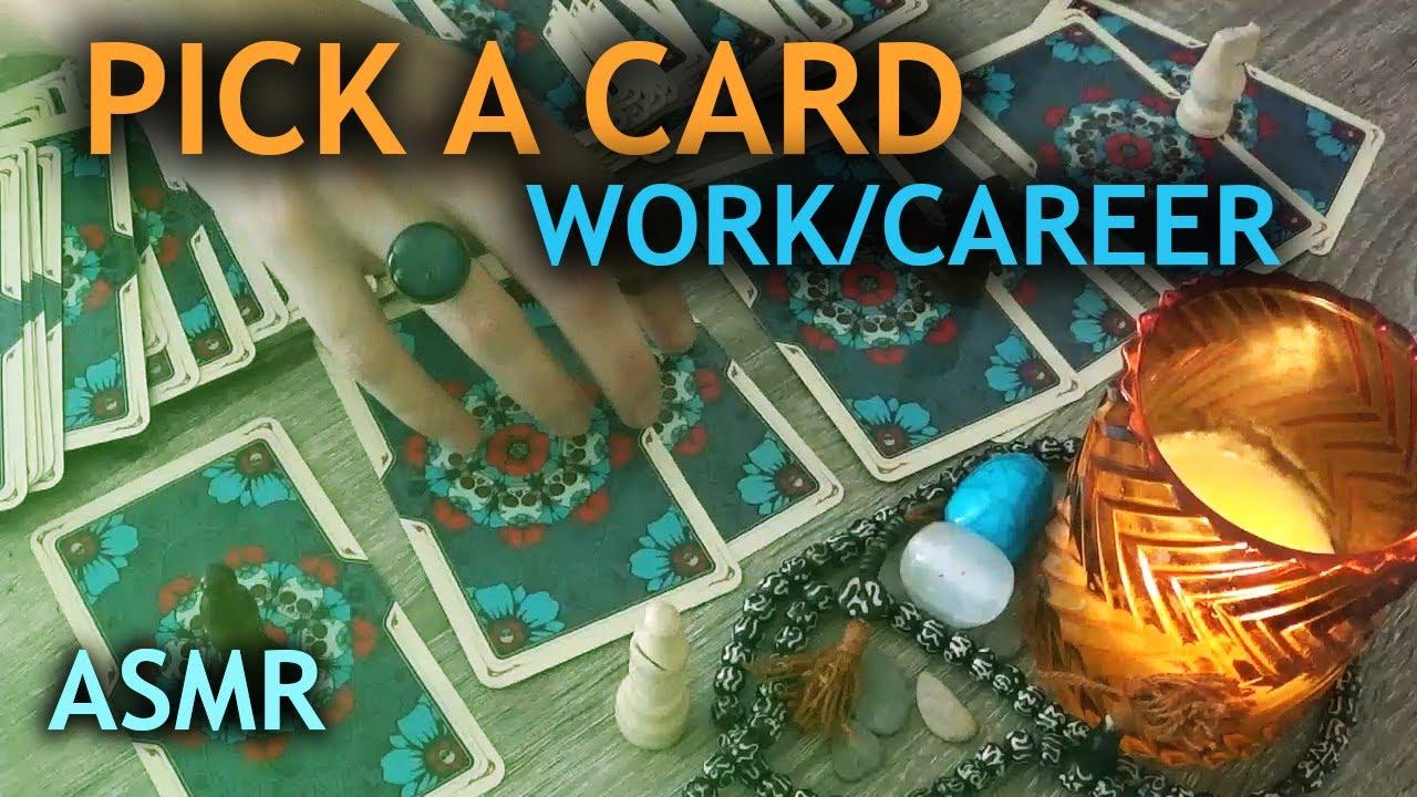 ASMR Pick A Card Tarot Reading / Work, Money & Career