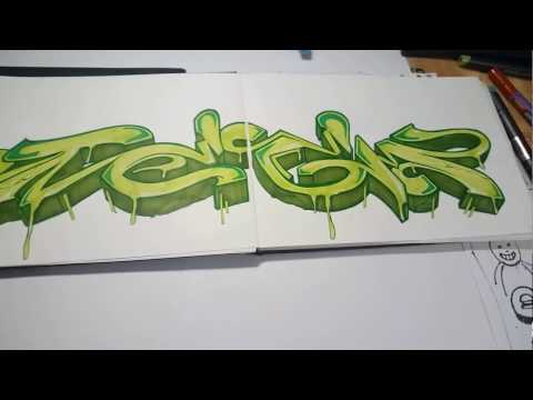 ⚫️#06 Graffiti Blackbook Sketch ⚫️TeeM1