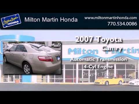 Used 2007 Toyota Camry Gainesville GA 30504. Milton Martin Honda