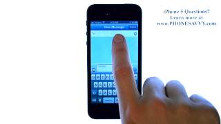 Apple iPhone 5 - iOS 6 - How do I Send a Text Message