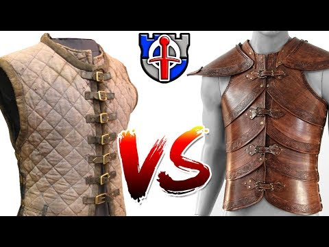 Why padded armor (gambeson) is WAY better than leather armor