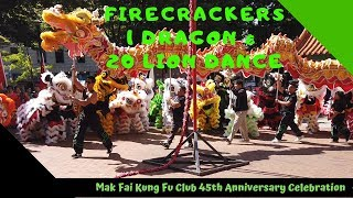 Firecrackers up close w/ 1 big dragon & 20 lion dance in Hing Hay Park Seattle Chinatown @ #MakFai45