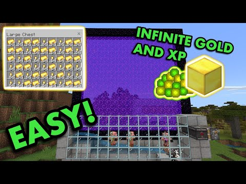 SIMPLE 1.16 GOLD AND XP FARM TUTORIAL In Minecraft Bedrock (MCPE/Xbox/PS4/Nintendo Switch/Windows10)