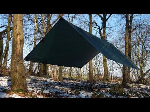 Tarps - A-Frame setups with a 3x3 DD tarp & Tarps - A-Frame setups with a 3x3 DD tarp - YouTube
