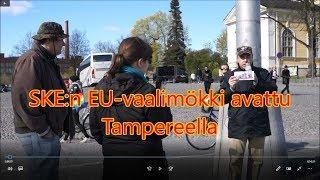 Gambar cover SKE:n EU-vaalimökin avajaiset Tampereella 2019