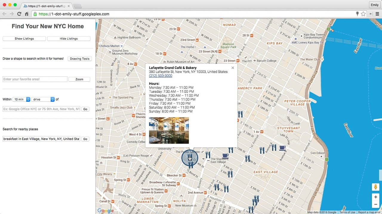 Google Maps APIs Location Features In Web Sites YouTube - Google map user location
