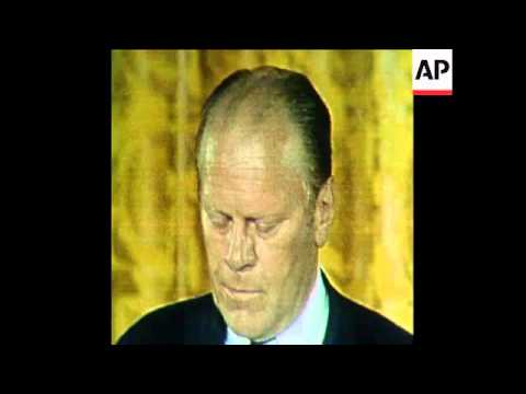 SYND 9 8 74 GERALD FORD SWORN IN AS US PRESIDENT