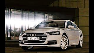 City Car Driving 1.5.5 - Audi A8 D5 4.0 TFSI Quattro 2018   Custom Sound   NIGHT DRIVE   1080p & G27