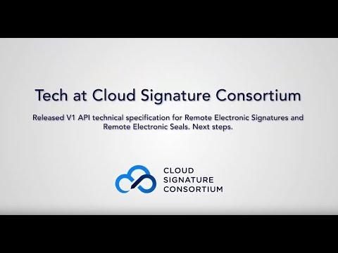 Protocols and API specifications - Cloud Signature Consortium