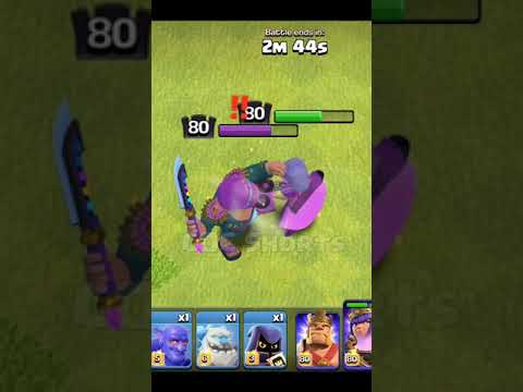 Beat King vs Party Queen Clash of Clans #Shorts #cocshorts