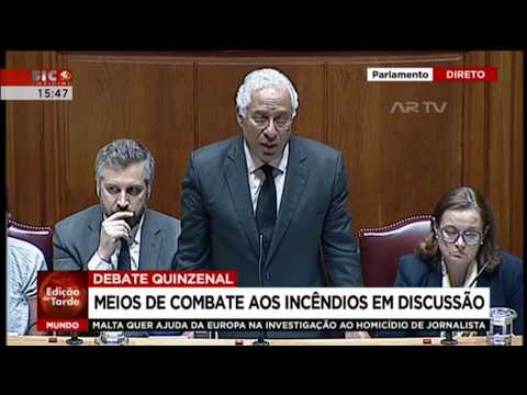 António Costa | Debate Parlamentar | Incêndios