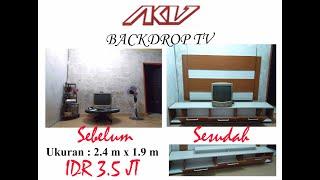 Backdrop Tv Padang, (a.k.u Interior Padang)