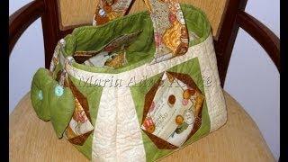 Patchwork Maria Adna – Cesto de costura em patchwork