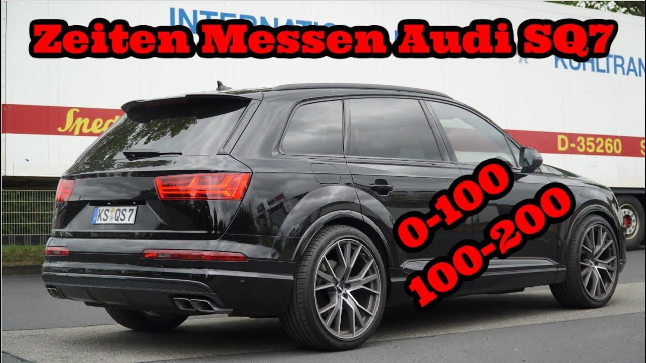 Audi SQ7 Zeiten messen 0-100 / 100-200 / Ist er schneller als der CLS?