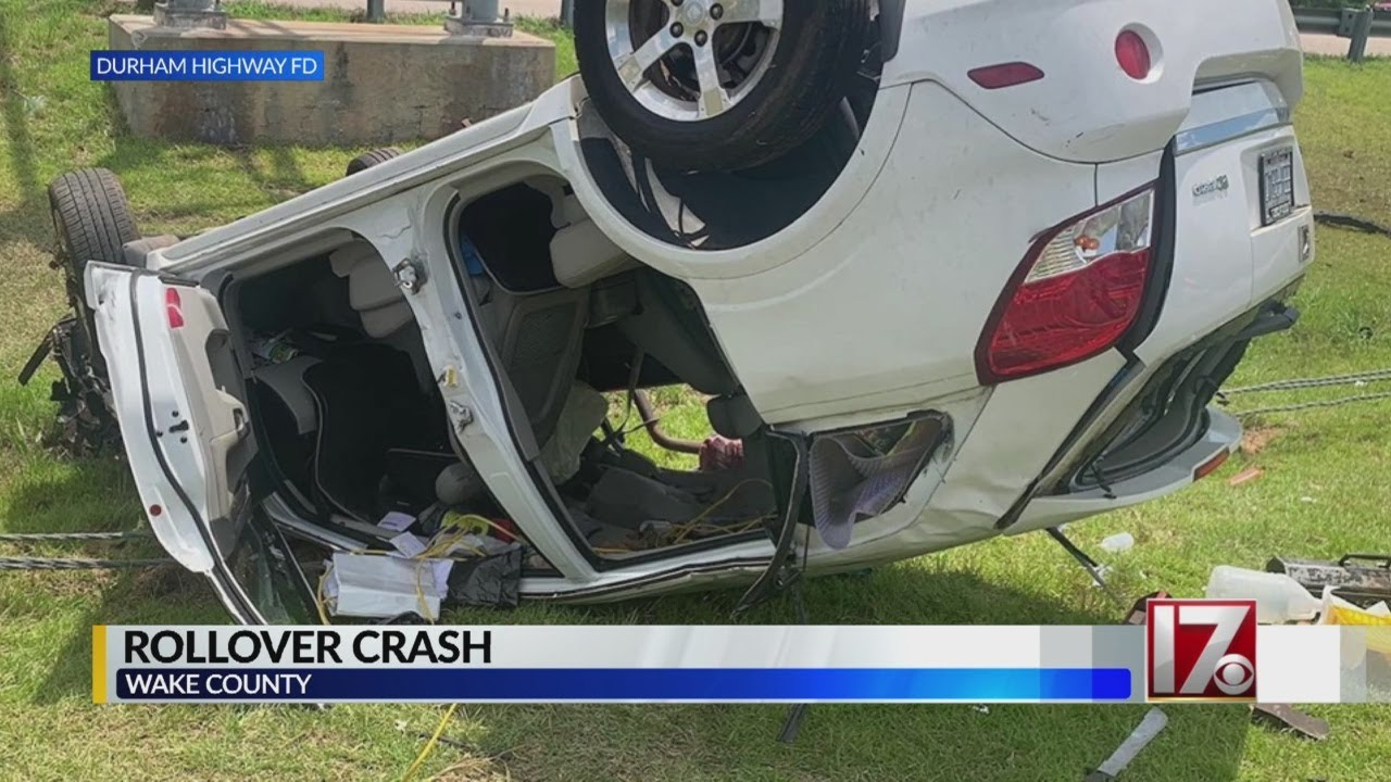 Driver injured after SUV crashes, flips on I-540 in Raleigh
