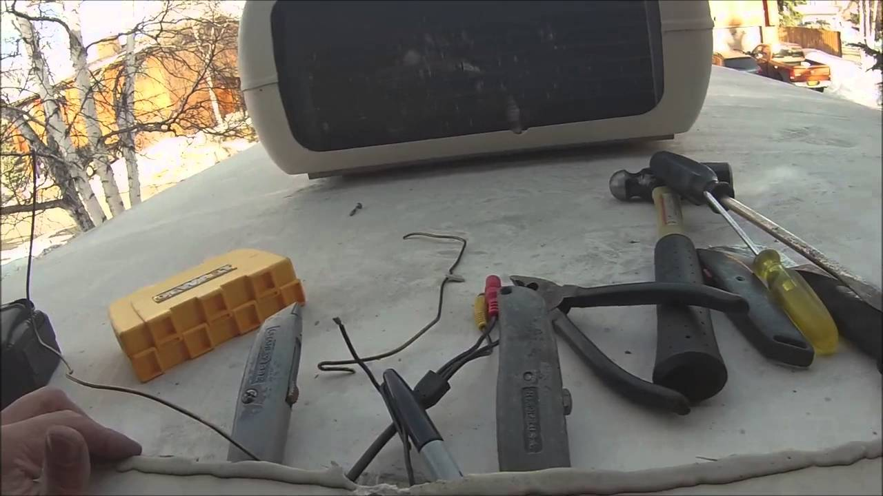 maxresdefault mounting the wireless backup camera to the rear of the motorhome rosco backup camera wiring diagram at alyssarenee.co
