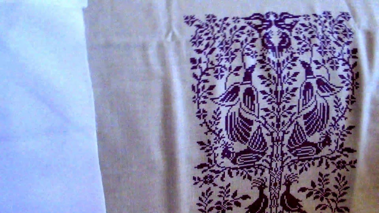 Заготовка для вишивки на тканині ЛЬОН-ГАБАРДИН - YouTube 40f77f516d03e