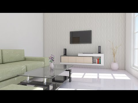 Interior design using Google Sketchup ( Living room ) - DailyVideo
