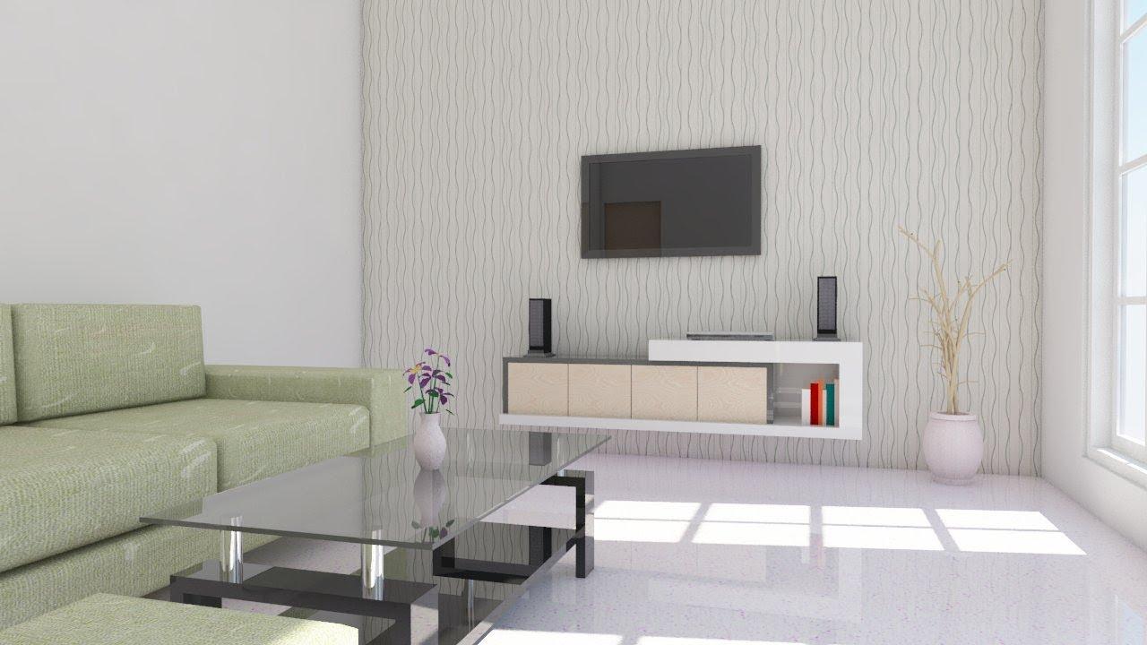 Interior design using Google Sketchup  Living room