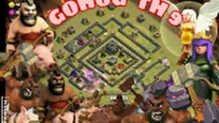 QUEEN WALK + GOHOG | Let's play Clash of Clans | TH9 vs.TH9 | Heiler/Golem/HogRider | DEUTSCH/GERMAN