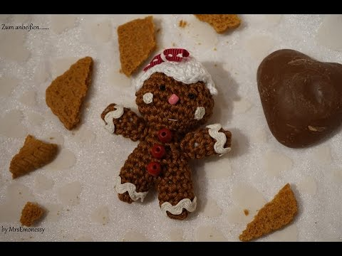 Diy Häkeln Lebkuchenmann Gingerbread Crochet Amigurumi Youtube