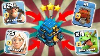 29 Max Miner + 5 Max Healer + 4 Max Baby Dragon Siege Machines Th12 Perfect Attack Strategy 3 Star