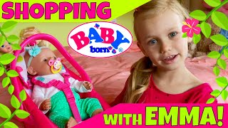 ☘Baby Born Emma Shopping At Target With Skye! 🛍But First, Let's Get Her Ready! 🤗