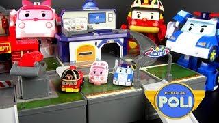 玩ROBOCAR POLI 波力救援小英雄 3個迷你基地系列 波力 安寶 羅伊 玩具開箱 / Robocar Poli Amber Roy Mini Pocket Playset