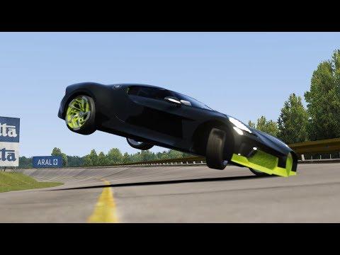 Crash Bugatti La Voiture Noire vs McLaren Speedtail at Monza Full Course
