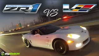 Zr1 Tag Team vs CTS-V + GTO Takes down GT500 in the STREETS