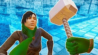 I Became the Hulk and Stole Thor's Hammer in Blade and Sorcery VR!