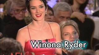 Winona Ryder Salutes Martin Scorsese at the AFI Life Achievement Award