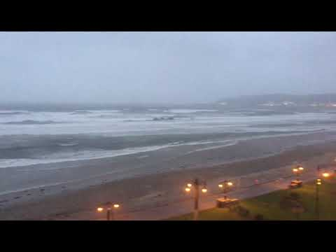 Big Storm (Hurricane Ophelia) in Douglas, Isle of Man 16-10-2017