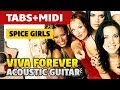 [Guitar Lessons] Spice Girls – Viva Forever (Guitar cover with TABS). Easy guitar.