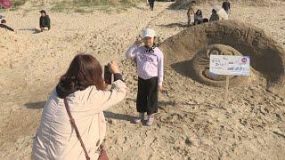 '한국의 사막'에 펼쳐진 모래조각 예술 …