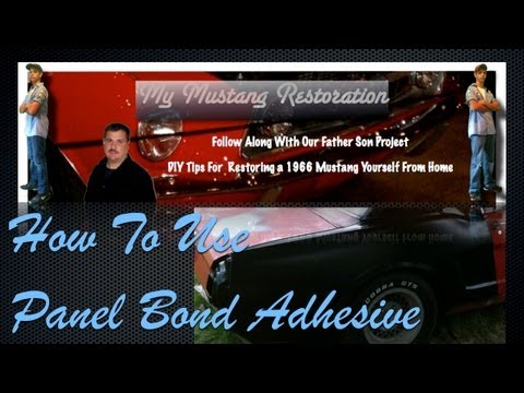 How To Use Panel Bond Adhesive to Install a Quarter Panel on a 66 Ford Mustang