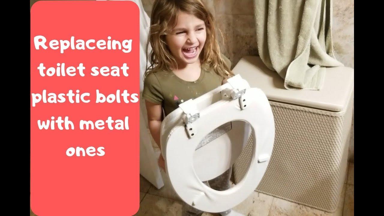 Toilet Lid Hinge Bolt Replacement Repair Youtube