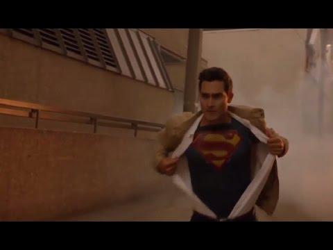 CW: Supergirl 2x01 - Supergirl(Kara) and Superman(Clark) save the Venture