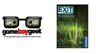 Exit the Game: The Secret Lab (Allegro 2-min) (NO Spoilers) Review with the Game Boy Geek