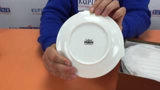 Видеообзор набора тарелок фарфоровых «Одинокая роза»