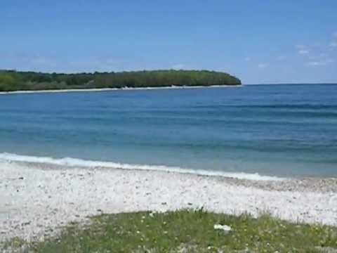 Schoolhouse Beach Washington Island Door County Wisconsin & Schoolhouse Beach Washington Island Door County Wisconsin - YouTube
